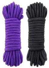 Multifunction Soft Cotton Rope Black 32 feet 10 m Natural Durable Long Rope