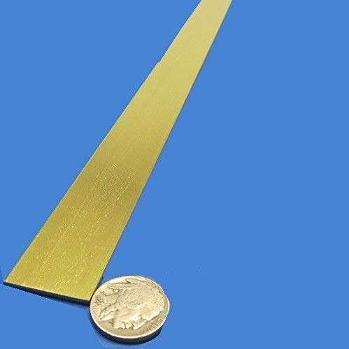JumpingBolt 353 Brass Flat Bar 1/16'' Thick x 1.0'' Wide x 36.0'' Length Material May Have Surface Scratches ()