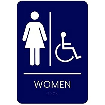 Amazon.com: Ada para hombres y mujeres baño braille 9 in X 6 ...