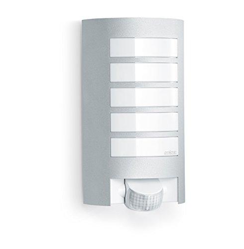 Steinel Sensor-Außenleuchte L 12, Design-Wandleuchte mit 180° Bewegungssensor und 10 m Reichweite, wetterfeste Alu-Blende, E 27 Fassung, Max. 60 Watt, 657918