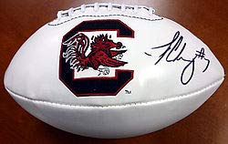 Jadeveon Clowney Signed White Logo Football South Carolina Gamecocks - PSA/DNA Authentication - Autographed NCAA College Signatures