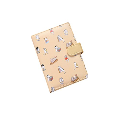 NUOLUX Cute Notebook Mini Journal Diary Soft-covered Mini Animal Printed Ruled Pages Notebook