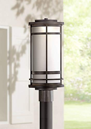 Clemson Modern Outdoor Post Light Fixture LED Dimmable Bronze 18 3/4