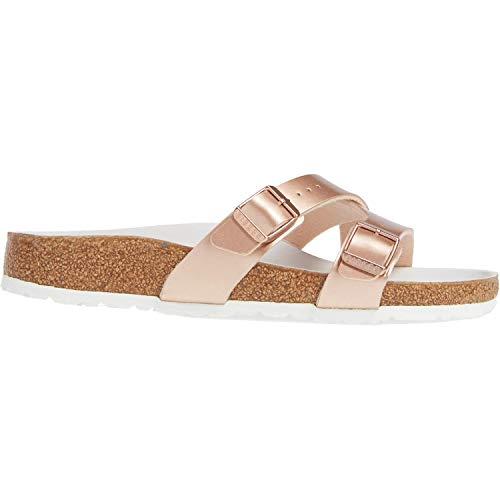 a0add6067b666 Birkenstock Women's Yao Hex Sandal Metallic Copper Birko-Flor Size 40 N EU