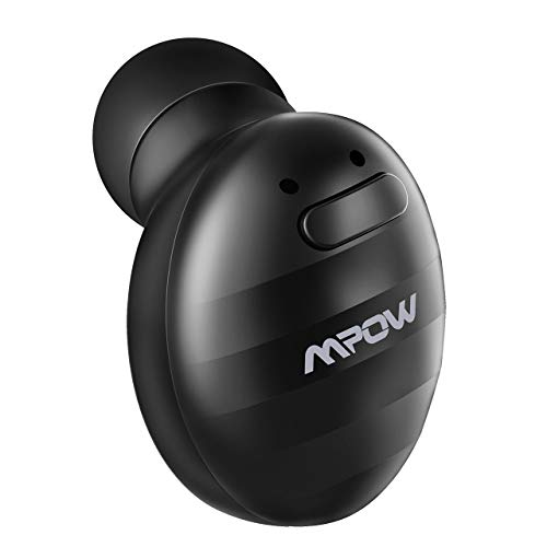Mpow EM6 Bluetooth Earpiece, V4.1 Wireless Earbud with Mic, Single Mini Bluetooth Earbud, Invisible Headphone with 6 Hour Playtime, Car Bluetooth Headset for iPhone Android Smart Phones (Two Chargers)