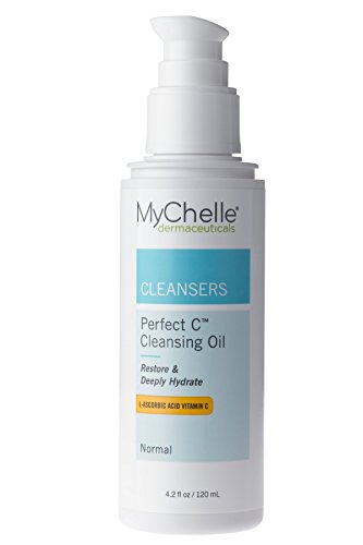 MyChelle Perfect C Cleansing Oil, Hydrating Face Wash with L-Ascorbic Acid, Baobab Oil, and Tamanu Oil, 4.2 fl - Oil Face Perfect Cleansing