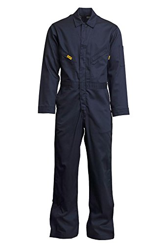 Lapco FR GOCD6NY-46 REG 88/12 Cotton-Nylon Deluxe Lightweight Coverall,Cotton, 46 Regular, Navy (