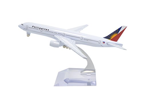 TANG DYNASTY(TM) 1:400 16cm Boeing B777 Philippine Airlines Metal Airplane Model Plane Toy Plane Model (Philippine Airlines)