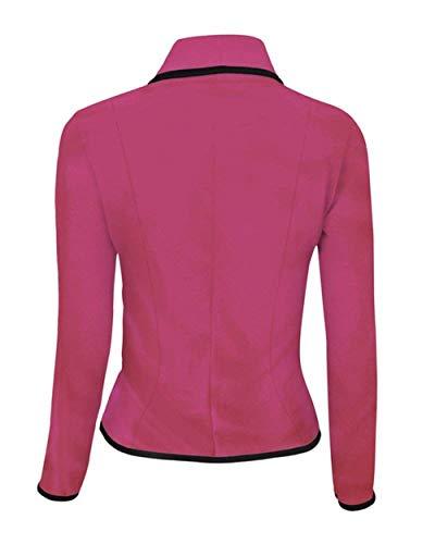 Da Eleganti Classiche Chic Moda Bavero Lunga Corto Rose Business Blazer Ragazza Prodotto Casuale Ufficio Donna Con Cappotto Sottile Plus Manica Giacca Button Tailleur Camicia 0ZYxw0qSEn
