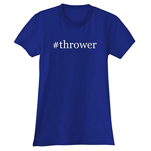 The Town Butler #Thrower - A Soft & Comfortable Hashtag Women's Junior Cut T-Shirt, Blue, Small ()