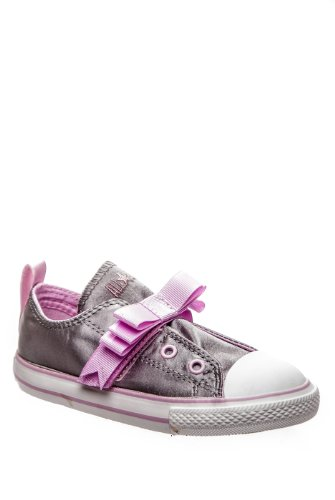 Converse Infants Chuck Taylor Simple Slip on Silver/Pink (10)