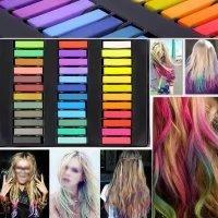 Temporary Hair Chalk Set Non-Toxic Hair Color Cream Rainbow Color Hair Dye(36pcs) by Mily (Image #5)