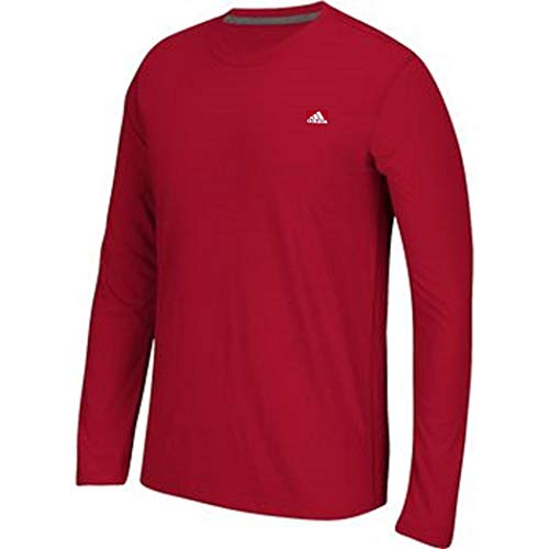 (adidas Men's Training Essentials Long Sleeve Tee (XXXX-Large, Power Red))