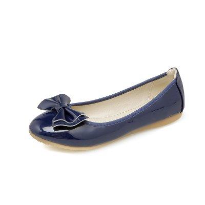 Embarazada Verano De De Soja Femeninos real Huevo Solo Base Rollos De De Y Cómoda Plana Zapatos Cabeza Redonda 43 Número 41 Azul Zapato GAOLIM q7A06
