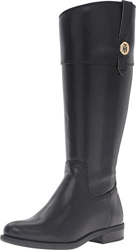 Tommy Hilfiger Women's Shano-wc Riding Boot, Black, 6.5 M US