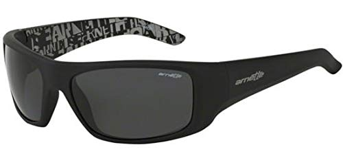 1237bae08c3 Arnette Hot Shot AN4182-05 Fuzzy Black with Distressed Grey inside Grey Lens