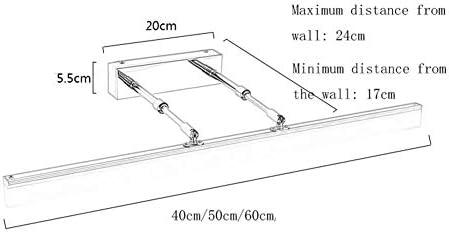 HIZLJJ バニティライトLEDバニティライトアクリル長方形チューブ伸縮ミラーヘッドライト浴室のミラーキャビネットはシンプル防水霧白色光を点灯します (Size : S)