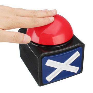 Buzzer Alarm Push Button Lottery Trivia Quiz Game Red With Sound And - EDC Gadgets Stress & Fidget Spinners