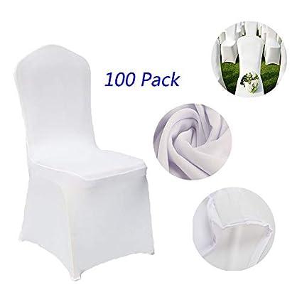 Amazon.com: Korie - 100 fundas para sillas de banquete de ...