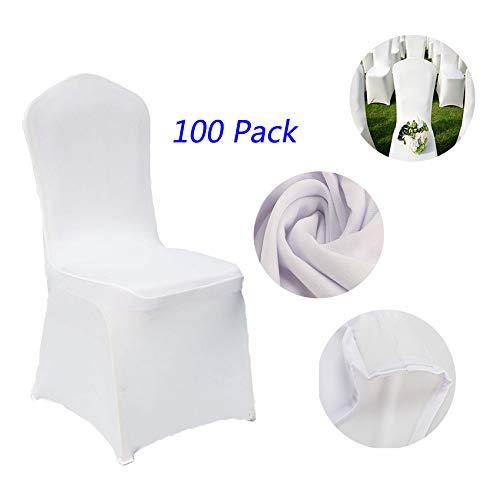 Korie ウェディング宴会用椅子カバー 100枚入り ホワイト椅子カバー パーティー用   B07QNXCYPR