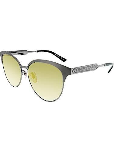 5cb5f9ba8e Gucci Mirrored GG0074SK-005-5 Silver Butterfly Sunglasses