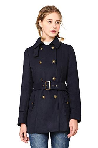 Coat Double-Breasted Coat Warm Coat M ()
