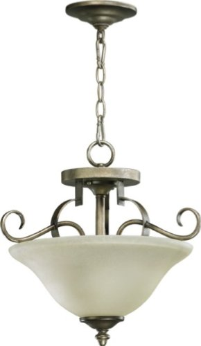 Quorum 2811-16-22 Avondale - Two Light Semi-Flush Mount, Antique Flemish Finish