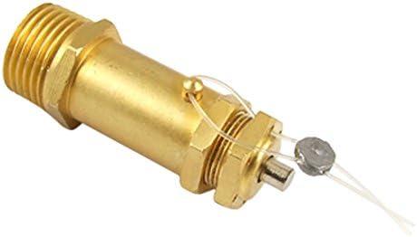 Sourcingmap a11083100ux0075-13/16 válvula de alivio de presión del compresor de aire rosca macho