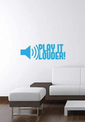 PLAY IT LOUDER vinyl wall-art Decal 8