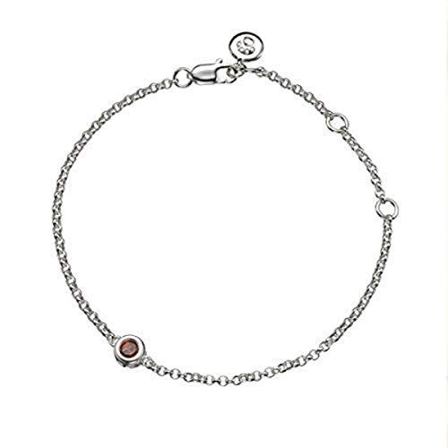 Molly B London Sterling Silver January Garnet Bracelet for Girls Arrives with Luxury Jewelry Box