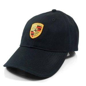 - Genuine Porsche Black Crest Logo Cap