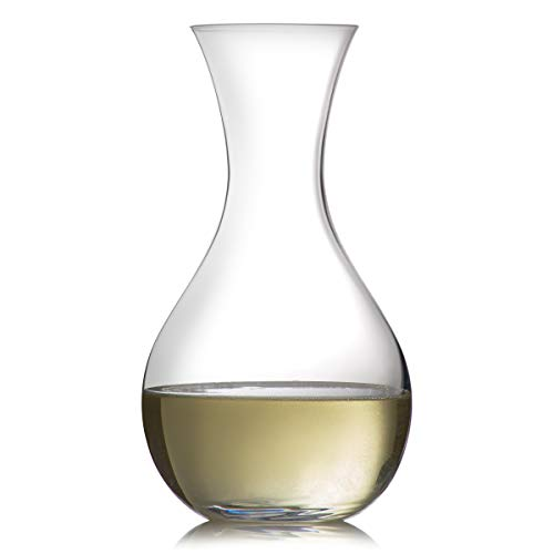 Bohemia Crystal Glass Wine Decanter, White and Red Wine Keeper, Aerator, Small, 42.2 Ounces 1250 Milliliters