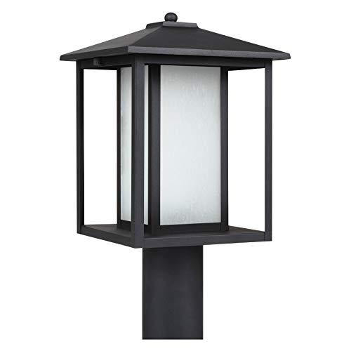 (Sea Gull Lighting 89129-57 Hunnington One Light Outdoor Post Lantern, Weathered Pewter)