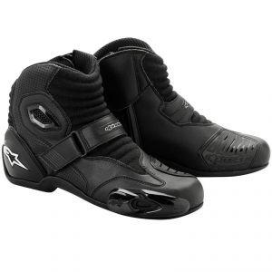 Alpinestars S-MX 1 Boots , Distinct Name: Black, Gender: Mens/Unisex, Size: 9, Primary Color: Black 2224012-10-43