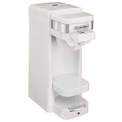 Proctor Silex White Coffee Maker (Proctor Silex Single Serve K-Cup Compatible Compact Coffee Maker, White | 49978)