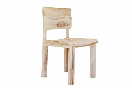 Aprodz Solid Sheesham Wood White Cuiaba Dining Chairs for Living Room | Set of 2 Wooden Chair