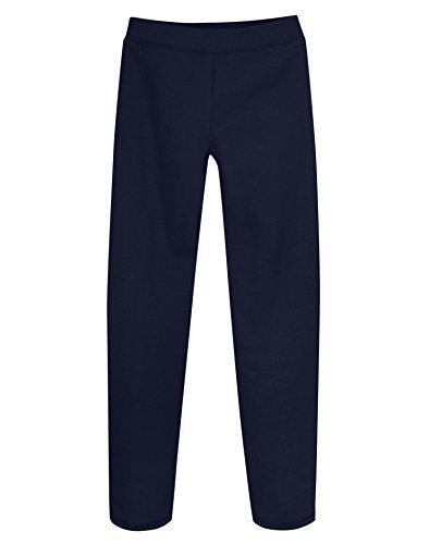 Hanes K226 Girls Fleece Open Bottom Sweatpants - Navy - M K226
