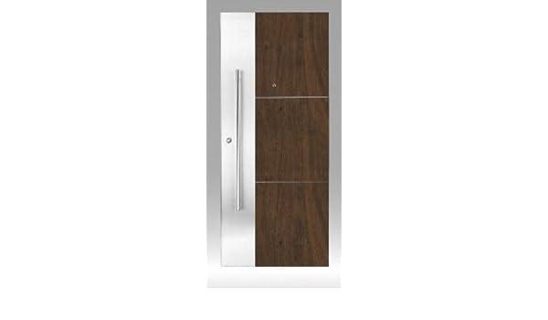 Puerta Blindada para exterior con inserto de aluminio y barra ...