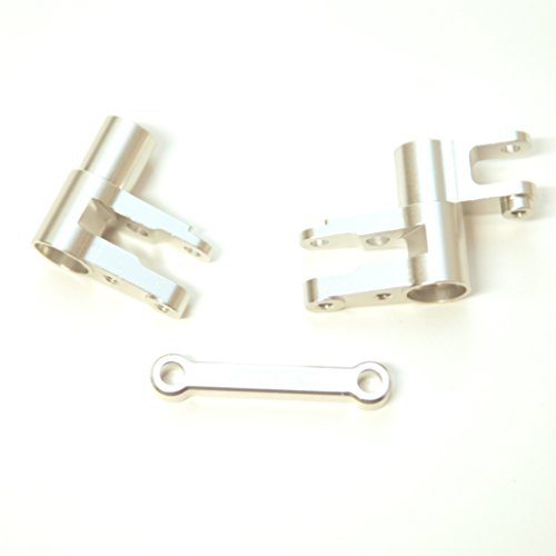 ST Racing Concepts ST8343S CNC Machined Aluminum Steering Bellcrank Set for Traxxas 4Tec 2.0, Silver
