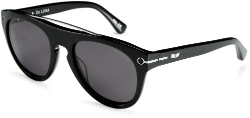 Vestal De Luna VVDL001 Round Sunglasses,Polished Black,54 - Eyewear Luna