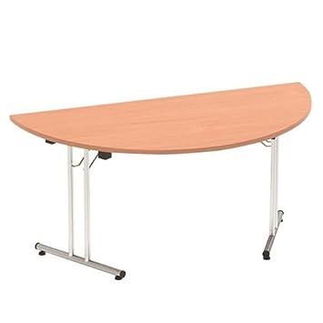 Sonix Semi Circle Folding Table I Frame Leg 1600mm Beech 138899