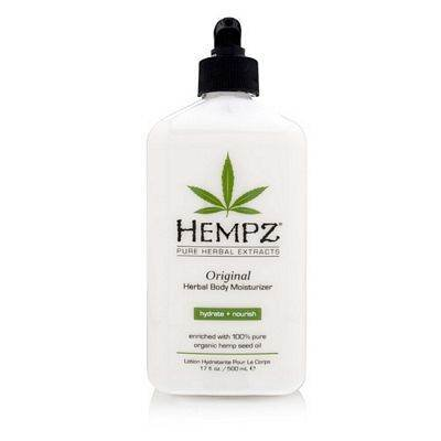 Original, Natural Hemp Seed Oil Body Moisturizer with Shea Butter and Ginseng, 17 Fl Oz - Pure Herbal Skin Lotion for Dryness - Nourishing Vegan Body Cream in Floral and Banana from Hempz