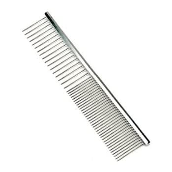 "Pettom Pet Stainless Steel Grooming Tool Poodle Finishing Butter Comb, 7 1/2"" L"