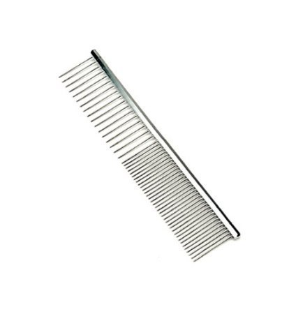 Pettom Pet Stainless Steel Grooming Tool Poodle Finishing Butter Comb, 7 1/2