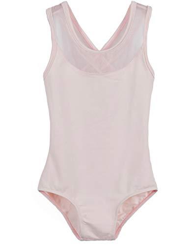 (MdnMd Girls' Tank Cross Back Leotard (6-8 / Intermediate, Ballet Pink))