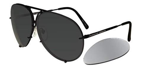 PORSCHE DESIGN P8478D Aviator Sunglasses Black Matte Frame Size 60 + Extra ()