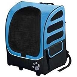 Pet Gear I-GO2 Plus Traveler Rolling Backpack Carrier for Small Cats and Dogs, Ocean Blue