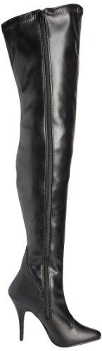 pu b Boots Pleaser Eu Str blk Femme Leather sed3000 Noir Faux EqwEHtIO
