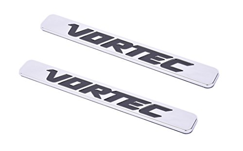Aimoll 2pcs Vortec Emblems, Badges for Chevrolet 2500hd GMC Sierra Silverado Gm Truck Liter Badges (Chrome)