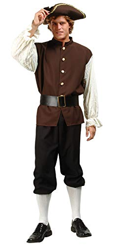 RG Costumes Men's Colonial Peasant, Brown/White, One Size